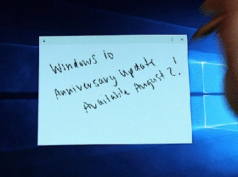 Windows 10 Anniversary Update con Windows Ink arriverà il 2 agosto